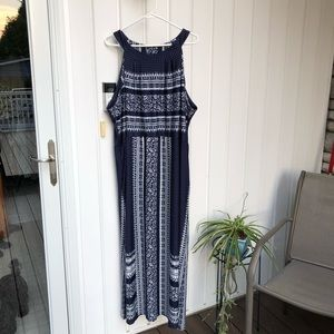 Lane Bryant Navy Maxi Dress